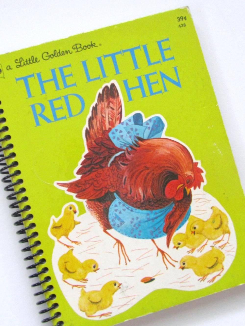 LITTLE RED HEN Journal Notebook Book Little Golden Book - Recycled Upcycled Toddler Child Easter